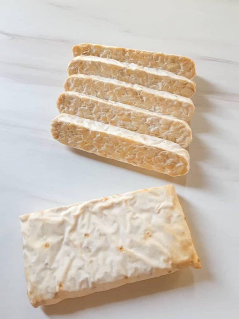 A block of tempeh