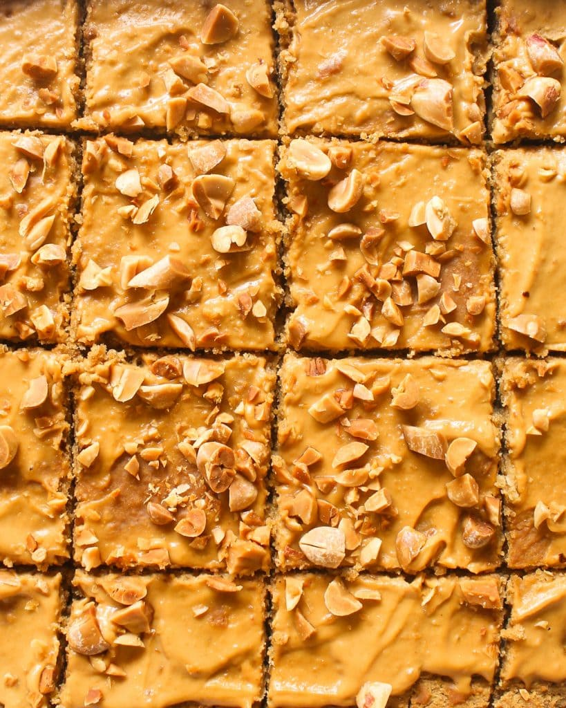 Close up shot of blondies