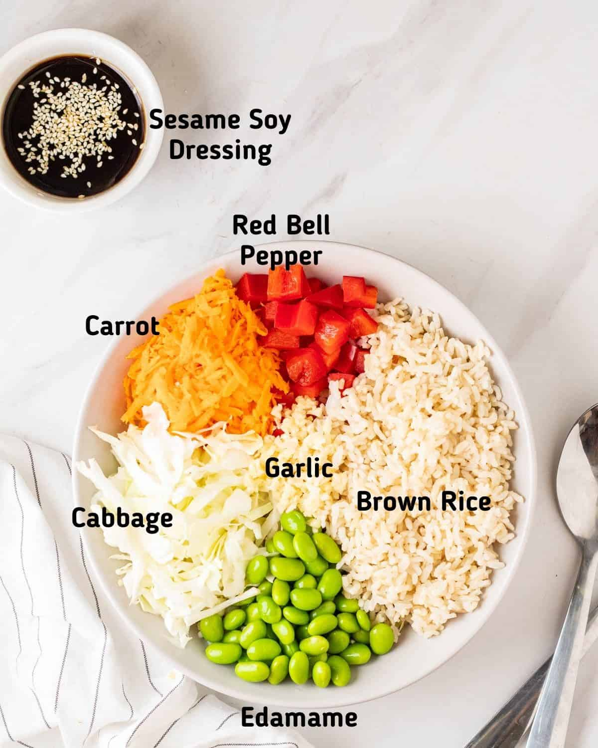 Ingredient needed to make this Asian rice salad.